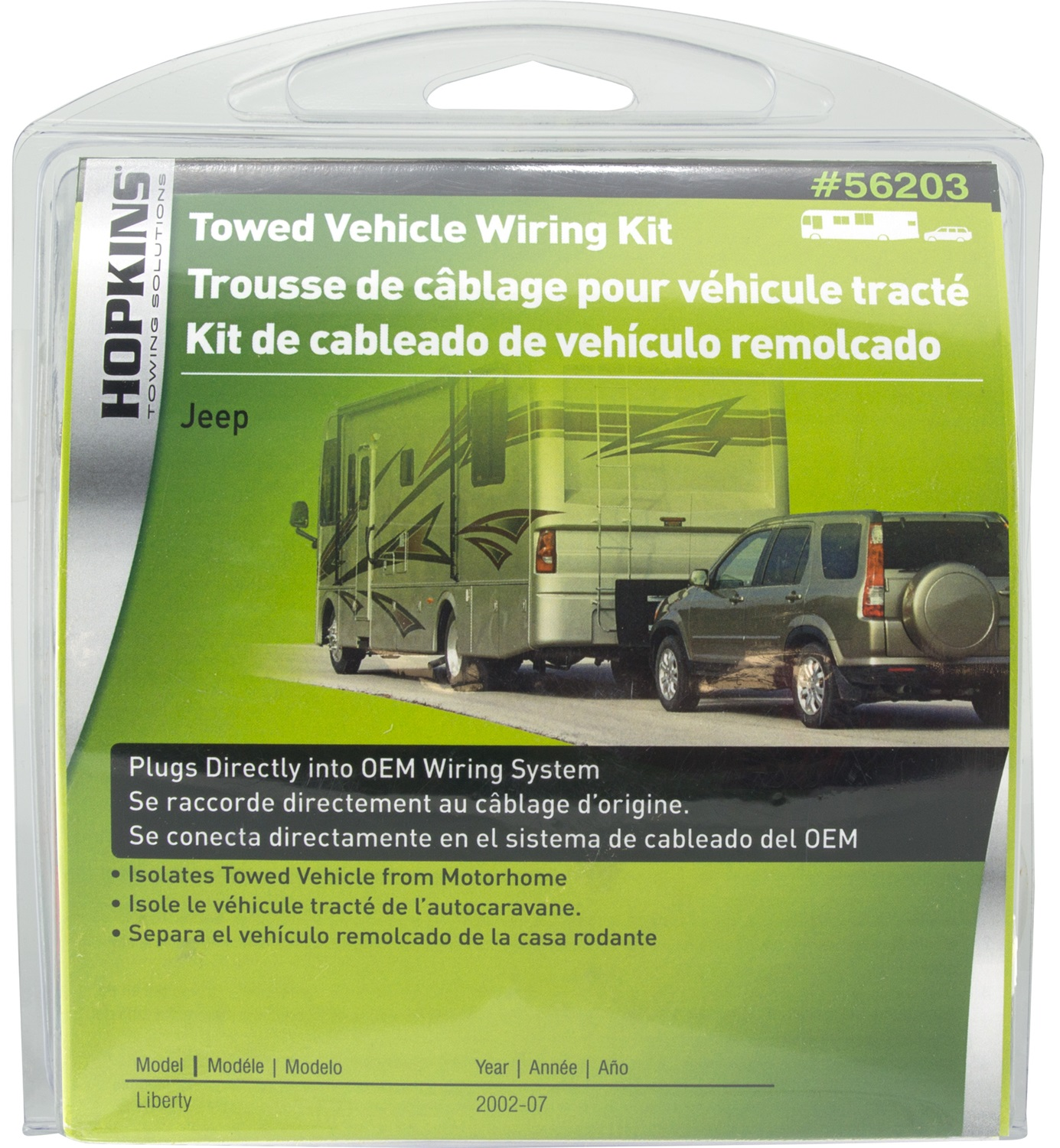 Hopkins Towing Solutions Towed Vehicle Wiring Kit Fits 2007 To