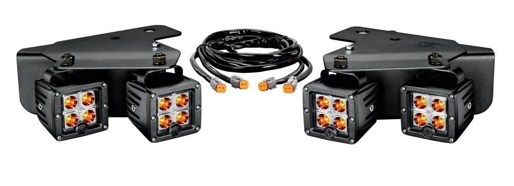 medium resolution of ford raptor led bumper light system spot beam 3 in rectangular amber black housing 3 watts w brackets and wiring harness 4 c3 lights