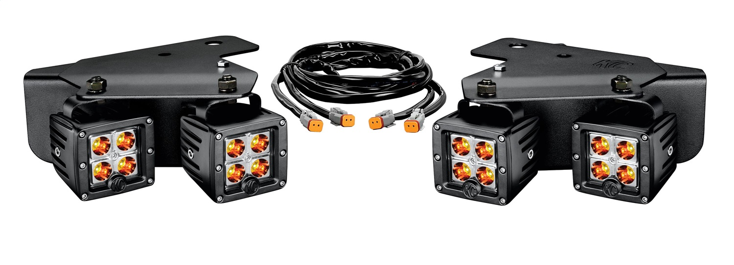 hight resolution of ford raptor led bumper light system spot beam 3 in rectangular amber black housing 3 watts w brackets and wiring harness 4 c3 lights