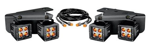 small resolution of ford raptor led bumper light system spot beam 3 in rectangular amber black housing 3 watts w brackets and wiring harness 4 c3 lights