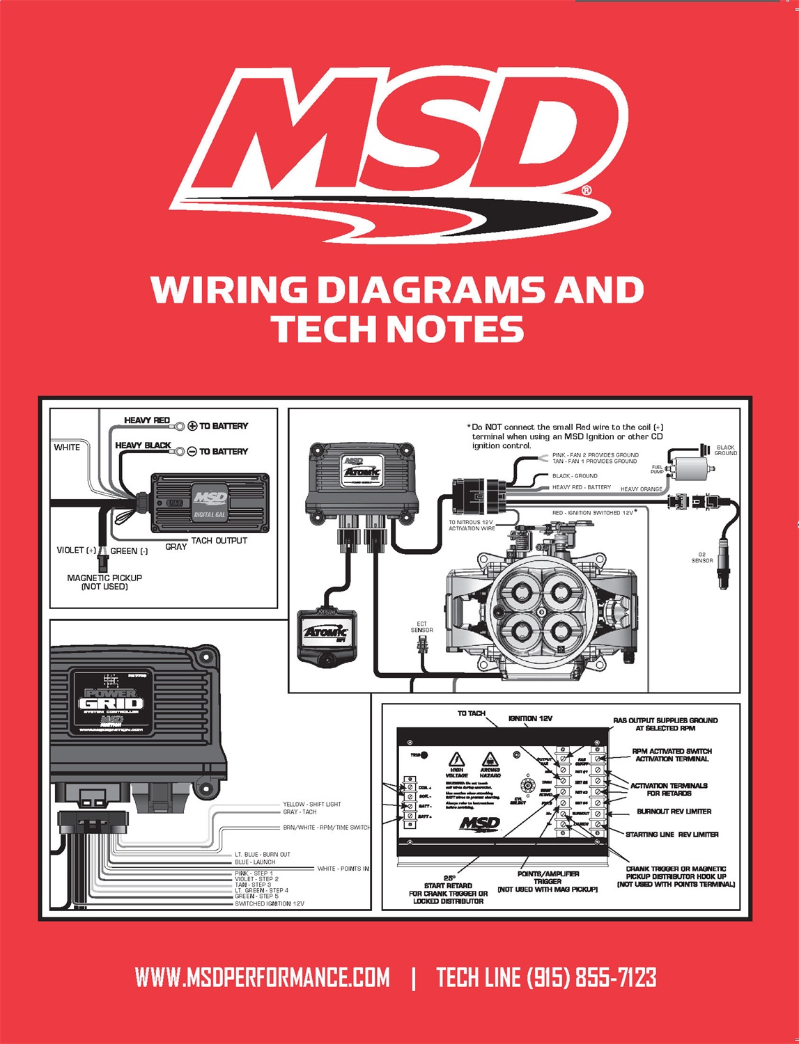 msd ignition wiring diagrams and technotes 3 gang switch diagram 9615 book tech notes
