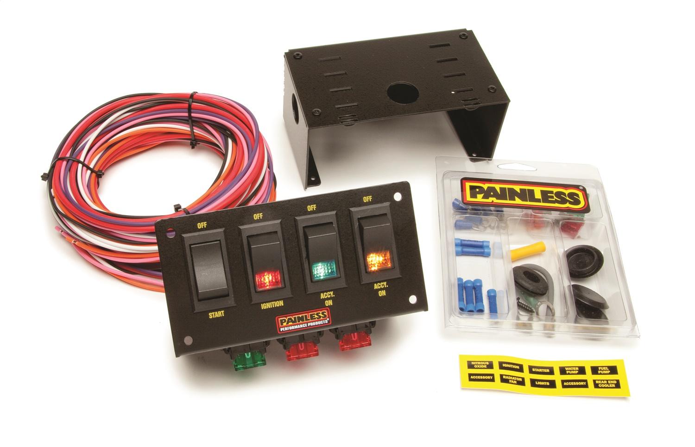 painless wiring leviton 3 way switch dimmer diagram performance 50301 race car 4 panel ebay