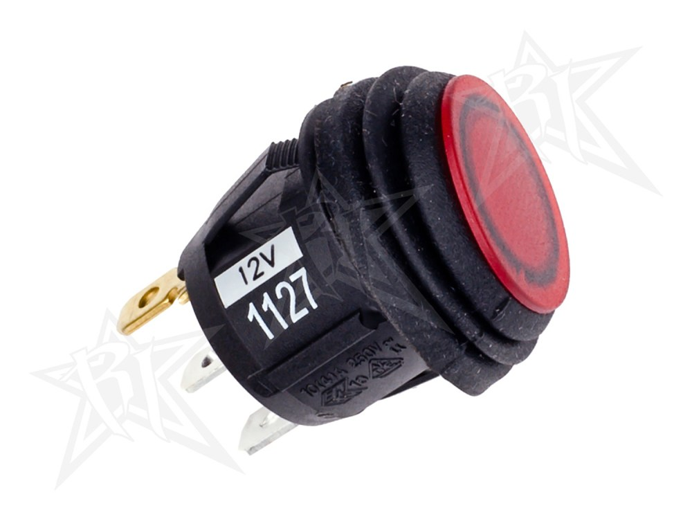 medium resolution of details about rigid 40191 multi purpose rocker switch 12 volt 3 4 round lighted red light