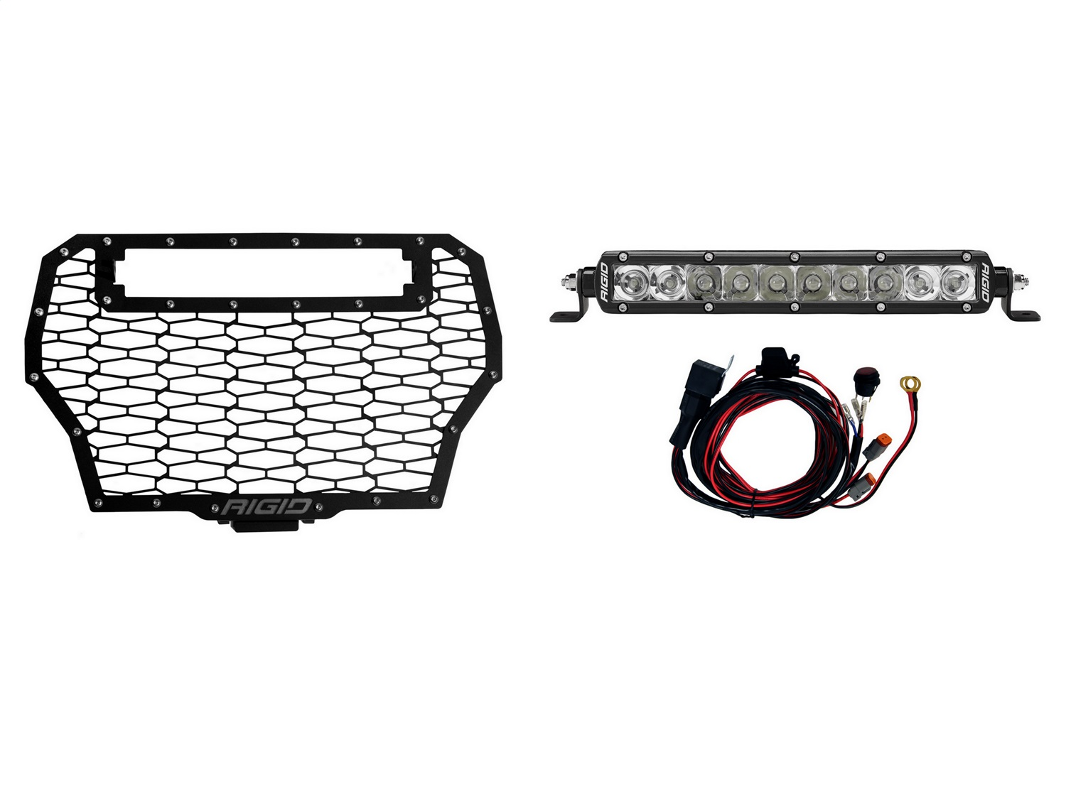 Rigid Industries Polaris Rzr Turbo Grille Fits