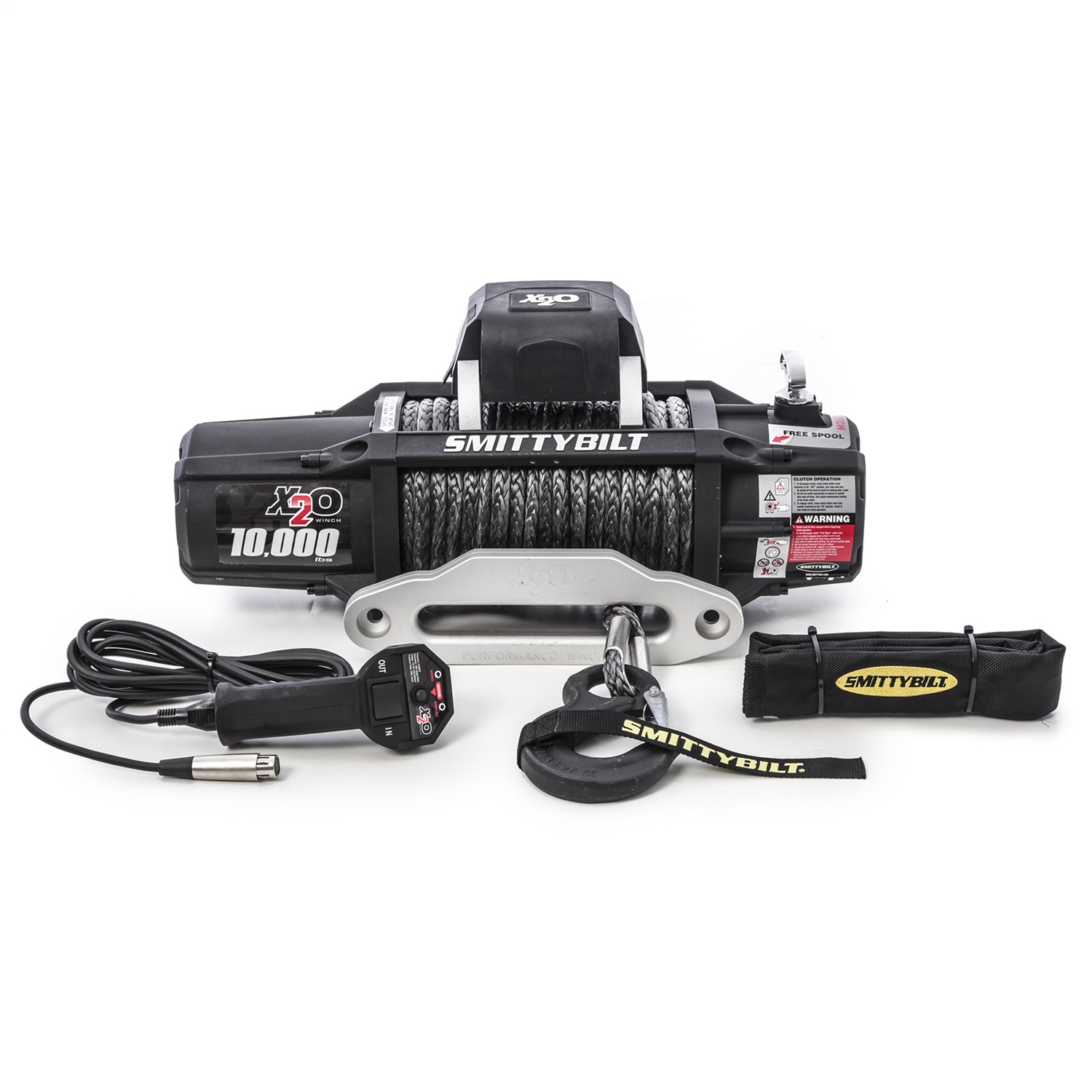 hight resolution of details about smittybilt winch 98510 x2o 10k gen2 wireless remote synthetic rope 10k