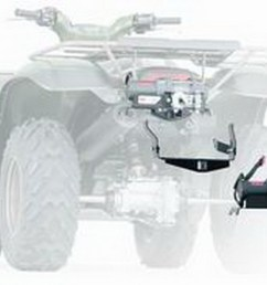 warn 83159 atv winch mounting system combination winch mount and bumper ebay [ 1500 x 1098 Pixel ]