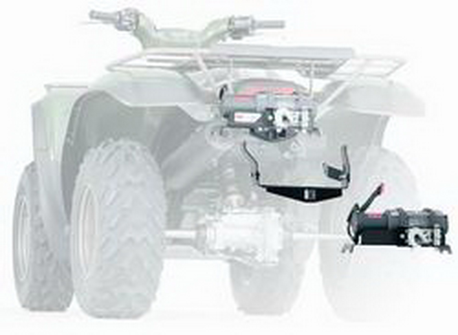 hight resolution of warn 83159 atv winch mounting system combination winch mount and bumper ebay