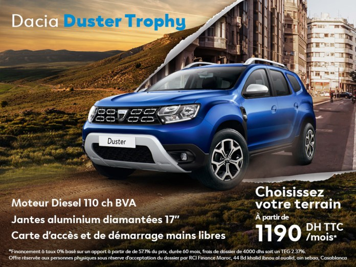 Promotion DACIA DUSTER Trophy