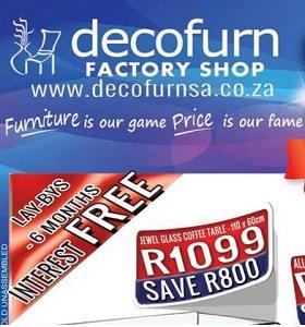 Decofurn Factory Shop Catalogue Specials