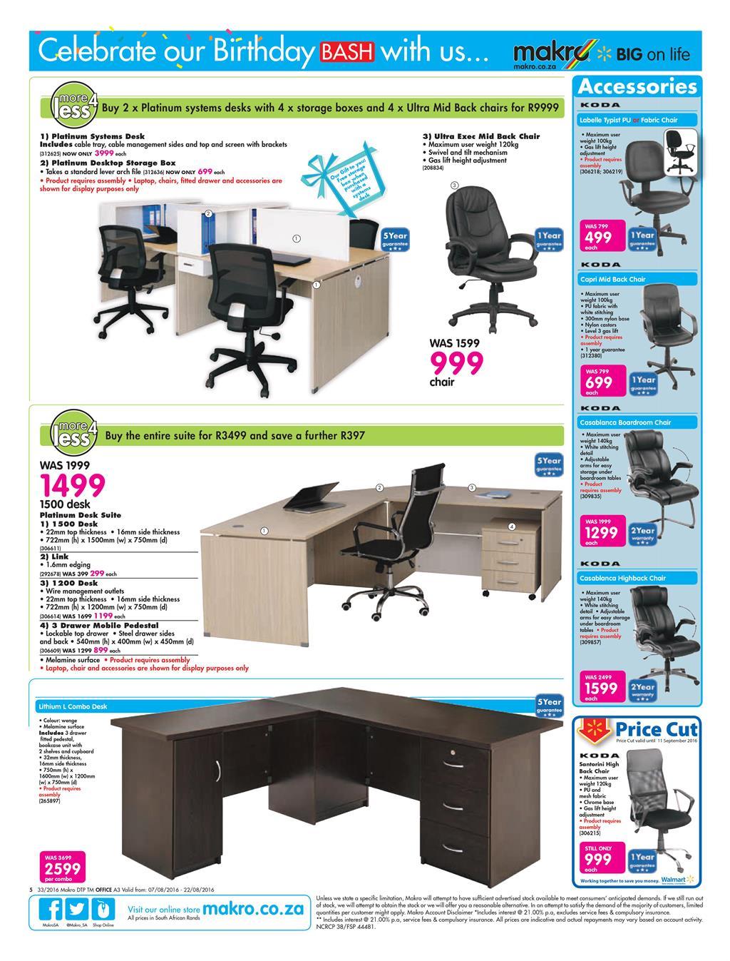 Makro Catalogue 7 August  22 August 2016 Office Catalogue