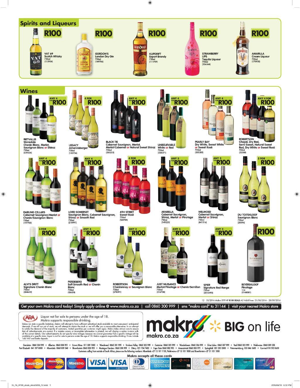 Shoprite Liquor Specials Week