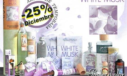 White Musk: aroma del mes de Boles d'Olor con 25% de descuento.
