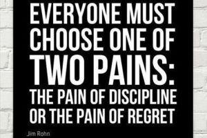 規律の痛み・後悔の痛み