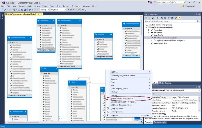 database diagram visual studio 2013 trailer connector wiring 4 way updating old entity framework ef4 models in design surface context menu