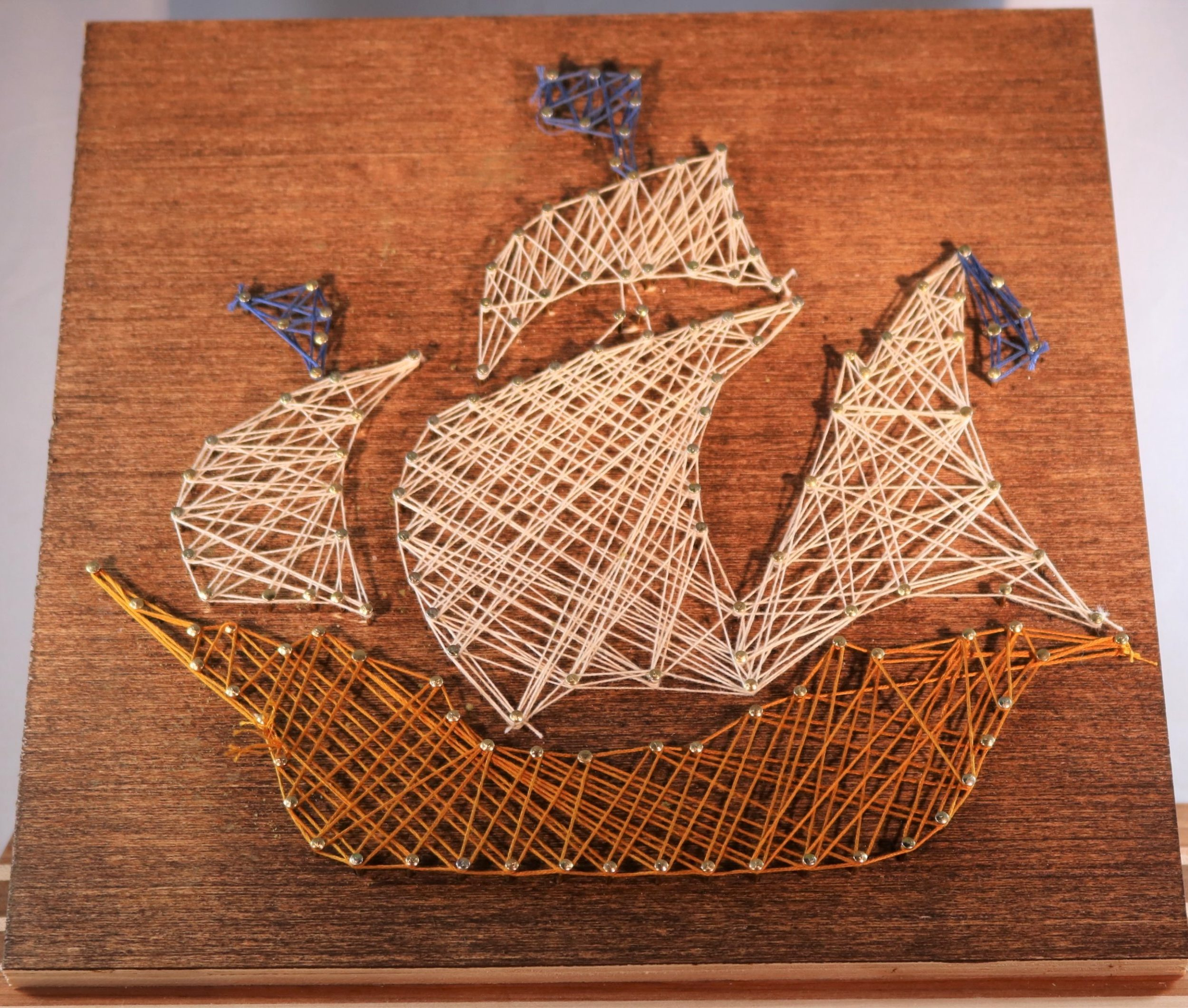 Masted Ship String Art Kit