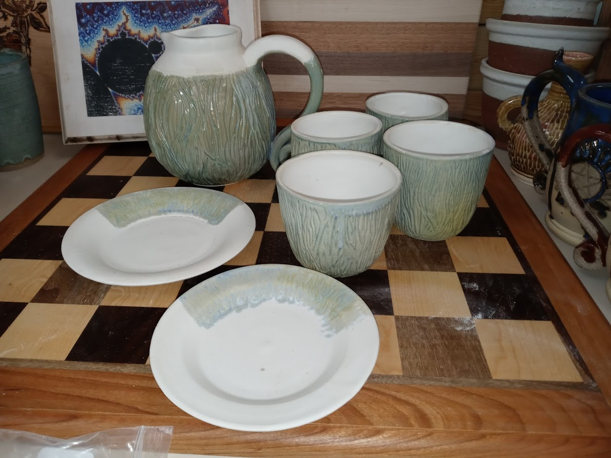 Ceramic Drinkware Set (Tree Texture)