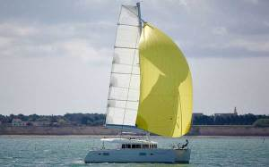 Lagoon 400 Sailing Catamaran for bare boat and skippered charters in Greece by Catamaran Charter Greece