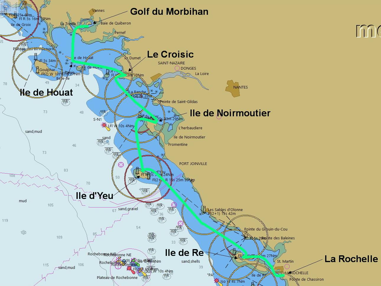 Van Golf du Morbihan naar La Rochelle