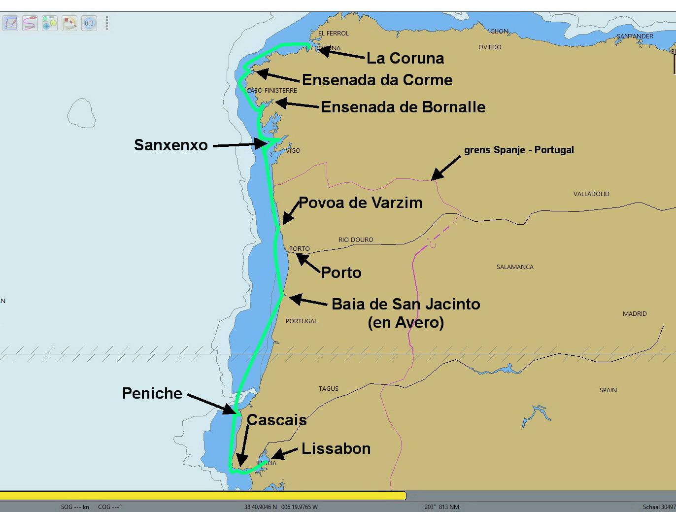 Van La Coruna naar Lissabon