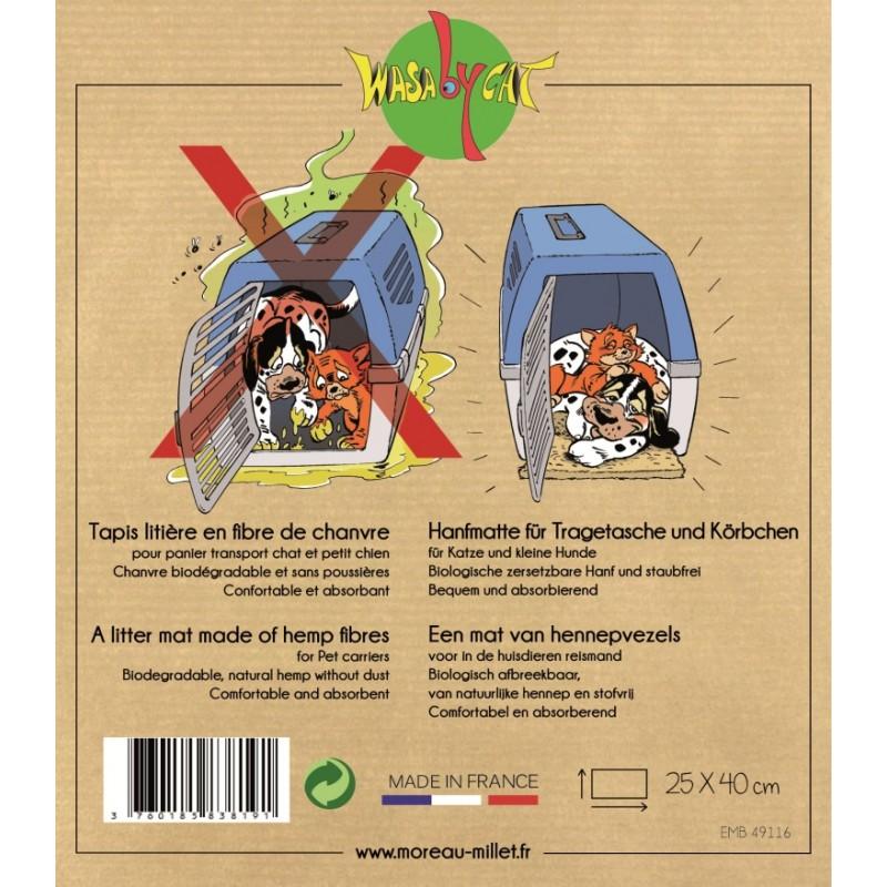 https www catapart fr accessoires pour ses deplacements 669 tapis litiere de transport pour chat en fibres naturelles wasabycat 3760185838191 html
