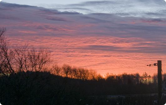 Rødmende skyer