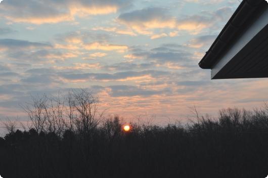 Onsdagens solopgang