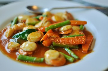 Scallops in Thai Red Curry
