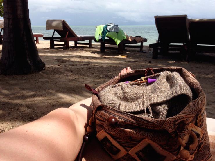 Strikkeri på stranden