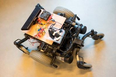 Den selvkørende robot som Christian lavede sidste semester på Aalborg Universitet
