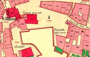 Riva del Garda (TN), il porto vecchio con la torre Apponale - mappa originale.