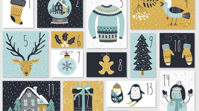 Christmas advent calendar, image