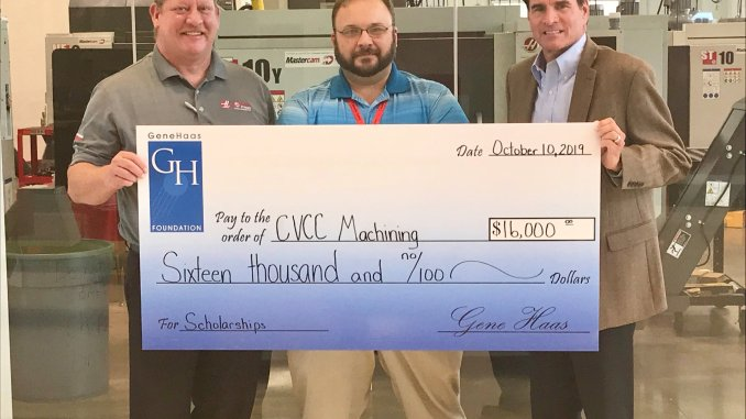 CVCC RECEIVES MAJOR GIFT FROM GENE HAAS FOUNDATION Catawba Valley Community College's Computer Integrated Machining degree program recently received a second $16,000 grant from Gene Haas Foundation to help meet the demand for skilled machinists in Catawba and surrounding counties. CVCC will use the grant fund to provide tuition assistance for students enrolling in the Computer Integrated Machining associate degree, diploma or certificate programs. The grant will also help fund the college's SkillsUSA state and national competitions and National Institute for Metalworking Skills certifications. About Haas Automation, Inc., and Gene Haas Foundation: Gene Haas founded Haas Automation, Inc., based in Oxnard, Calif., in 1983. Now the largest CNC machine tool builder in the western world, the company manufactures four major product lines: vertical machining centers (VMCs), horizontal machining centers (HMCs), CNC lathes and rotary tables, as well as a number of large five-axis and specialty machines. In 1999 Gene Haas founded the Gene Haas Foundation. Growing up with a strong social conscience instilled by his family, Haas formed the foundation to fund the needs of the local community. However, his commitment to the importance of US manufacturing incited him to grow his personal foundation and direct his foundation board to focus on manufacturing education in the form of scholarships for CNC machinist training.
