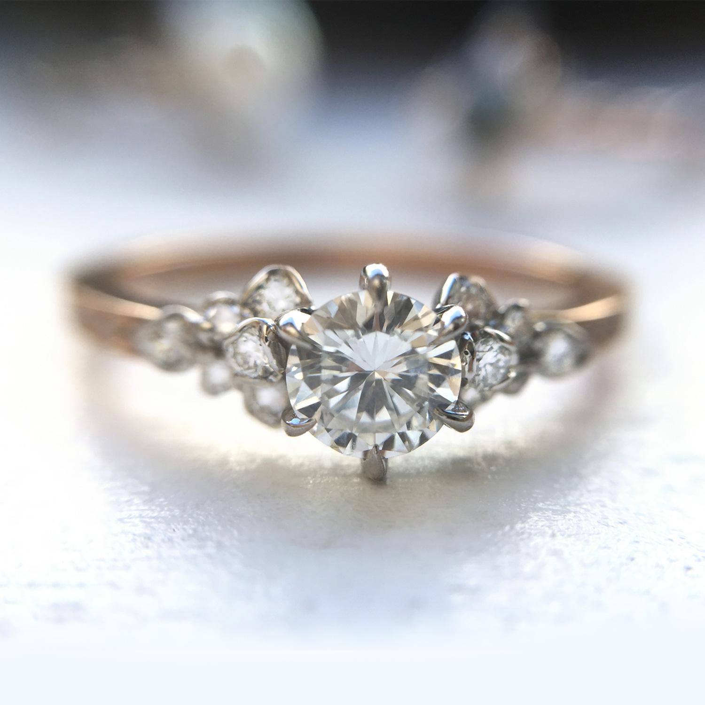 Japanese Rose Ring Engagement Rings Catbird