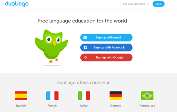 Learn a language with Duolingo