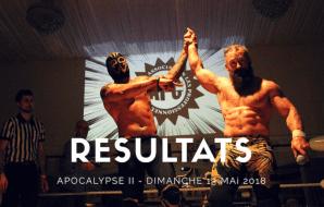 RÉSULTATS D'APOCALYPSE II