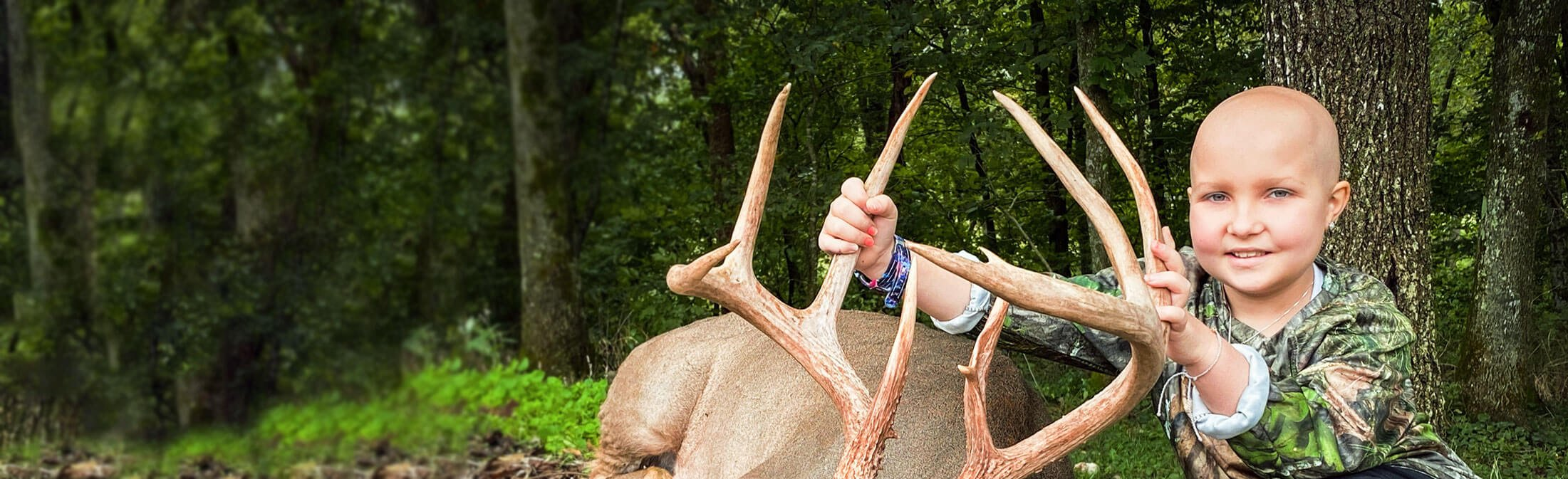 Catch-A-Dream child on whitetail hunting adventure