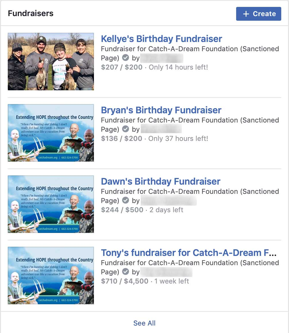 View Fundraisers