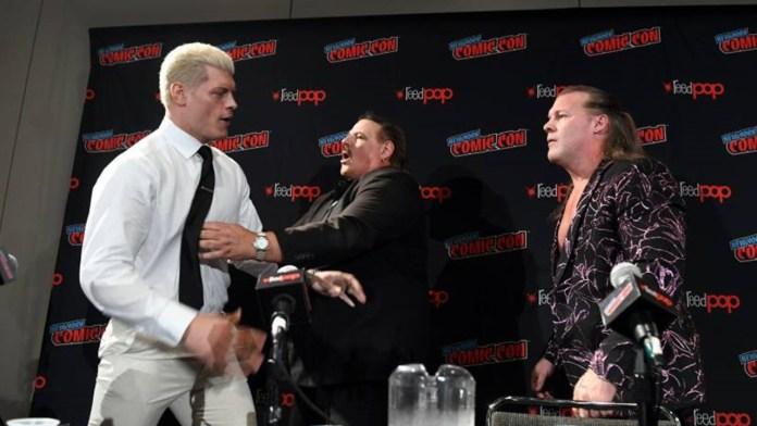bagarre entre Cody Rhodes et Chris Jericho