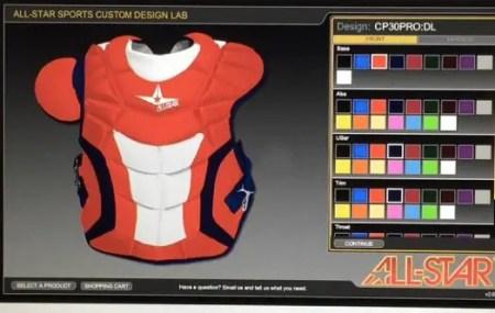 baseball express custom all star catchers gear feature