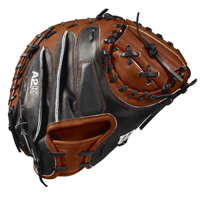 Rear and hand view of the Wilson A2K Catchers Mitt