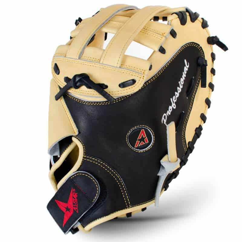 The All Star Vela Pro catchers mitt, front view and webbing