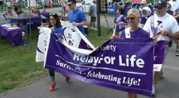 Kara, the Grand Marshall of this year's Sullivan County, NY Relay for Life was also asked to lead the Survivor's Lap.  Her husband, Craig, was Care Giver Grand Marshall.