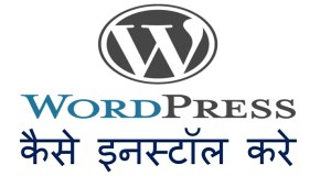 wordpress install