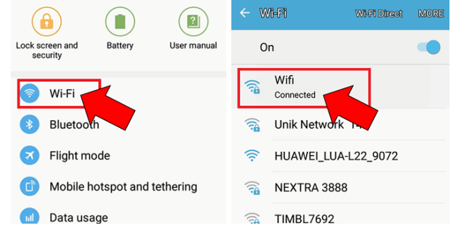 wifi ka password
