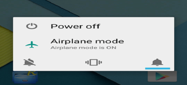flight mode on off