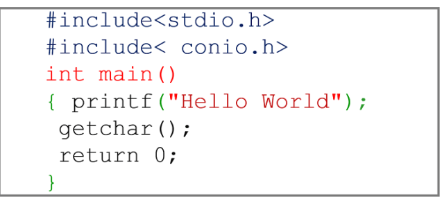 c hello world program