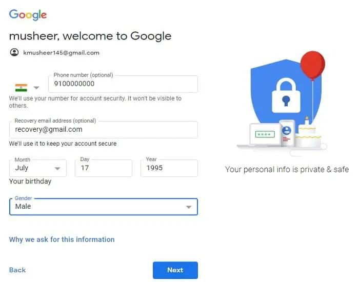 google account kaise banaye