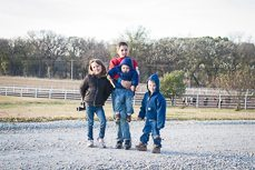 a snapshot of my four children playing outside at the farm