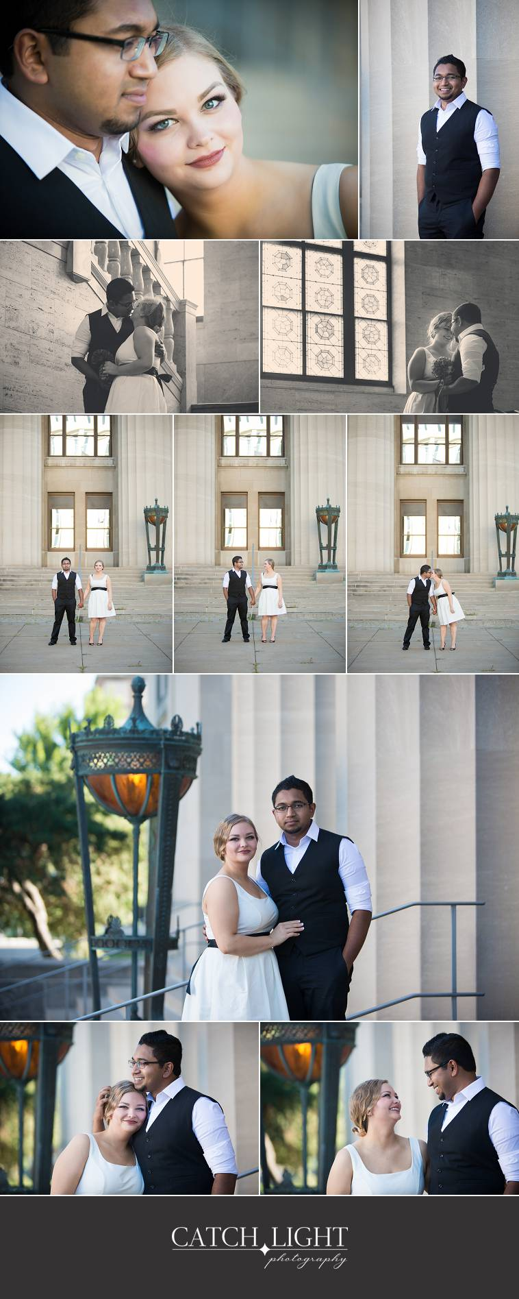 Wyandotte County Courthouse wedding day portraits