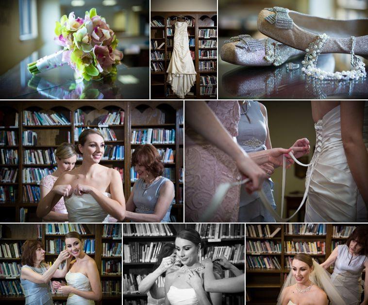 01_Bride putting on wedding dress